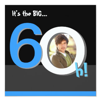 60th Big 6Oh! Photo Template Birthday Party Card