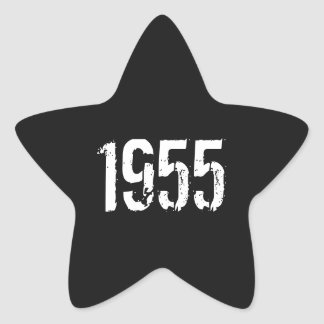 60th Birthday 1955 Star Stickers