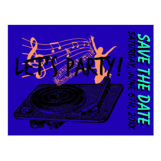 60th Birthday 60s Let's Party Save the date Postcard
