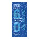 60th Birthday Big Six Oh Blue Confetti W363 10 Cm X 24 Cm Invitation Card