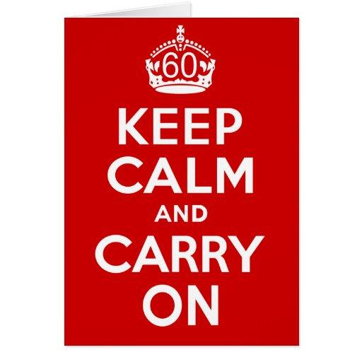 60th Birthday Card