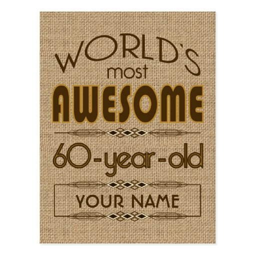 60th Birthday Celebration World Best Fabulous Post Cards