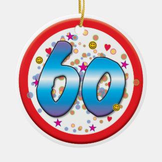 60th Birthday Ceramic Ornament