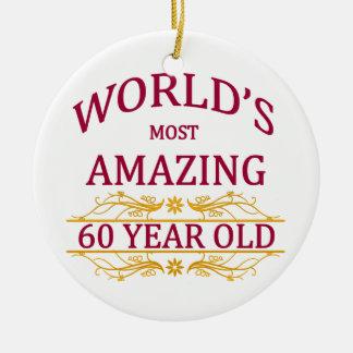60th. Birthday Ceramic Ornament