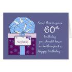 60th Birthday Customisable Card