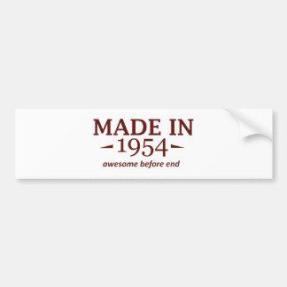 60th birthday designs bumper sticker