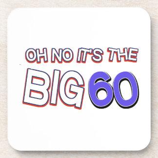 60th birthday designs drink coaster