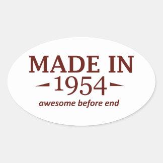 60th birthday designs oval sticker
