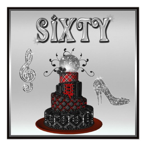 60th Birthday Disco Diva Cake Sparkle High Heels 13 Cm X