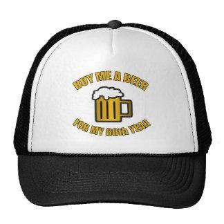 60th Birthday Funny Beer Mesh Hat