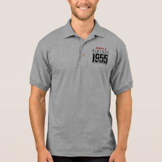 60th Birthday Gift Best 1955 Vintage V003E Polo T-shirts