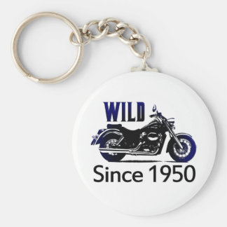 60th Birthday Gifts, 1950 Basic Round Button Key Ring