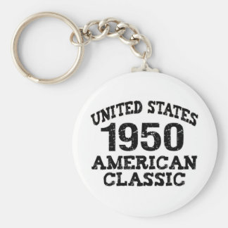 60th Birthday Gifts, 1950 Key Chains