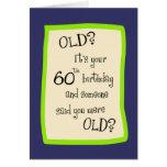 60th Birthday Humour