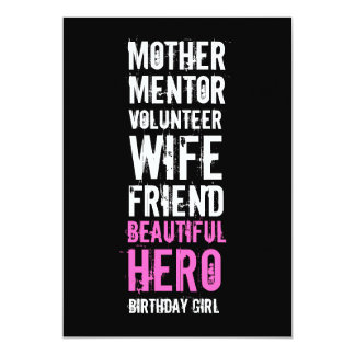 60th Birthday Invitation - Mom Volunteer Hero