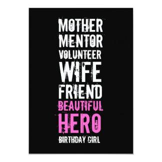 60th Birthday Invitation - Mom Volunteer Hero
