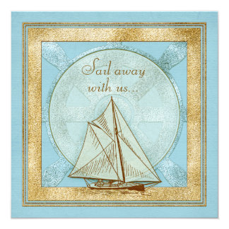 60th Birthday Invitation | Nautical Sailboat Blue