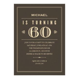 60th Birthday Invitations for Men
