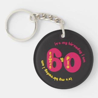 60th Birthday Key Chain - Old and Grumpy