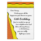 60th Birthday Light in the Darkness-Funny Card