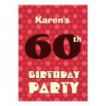 60th Birthday Modern Pattern Template Personalised Invite