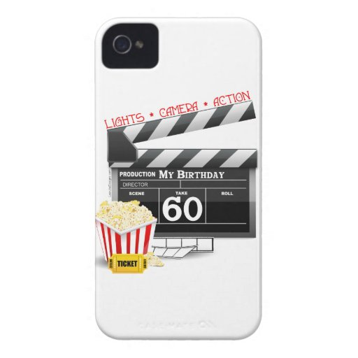60th Birthday Movie Theme iPhone 4 Case