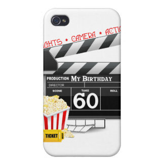 60th Birthday Movie Theme iPhone 4/4S Covers
