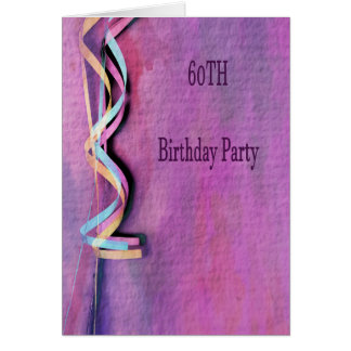 60th birthday party card