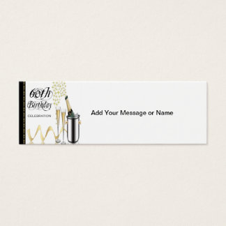 60th Birthday Party Gift Tag Mini Business Card