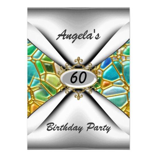 60th birthday party Invitation sixty Custom Invites