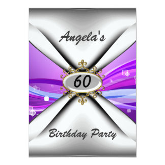 60th birthday party Invitation sixty Personalized Invite