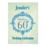 60th Birthday Party Invitation Vintage Gold Frame