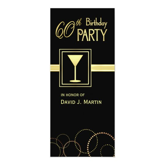 60th Birthday Party Invitations - Surprise Party