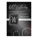 60th Birthday Party Invitations - with Monogram