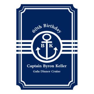 60th Birthday Party on a Boat Nautical Custom 13 Cm X 18 Cm Invitation Card