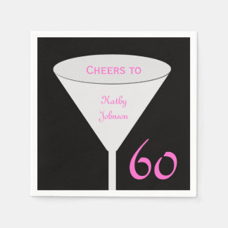 60th Birthday Party Paper Napkins
