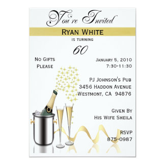 60th Birthday Party Personalized Invitation