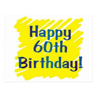 60th birthday party postcard