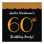 60th Birthday Party Pretty Lace Template