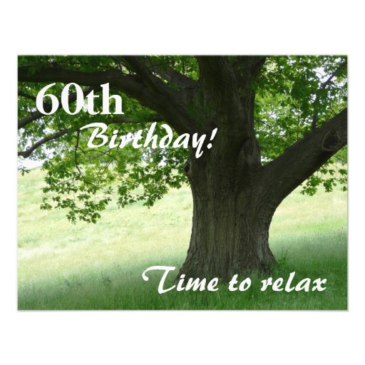 60th Birthday Party-Relax/with Quote Invites