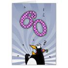 60th Birthday - Penguin Surprise Card