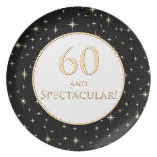 60th Birthday Plate