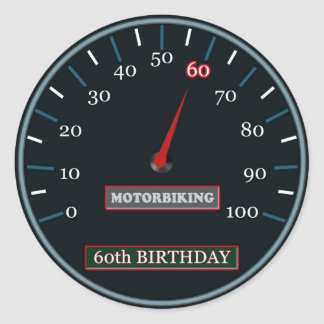 60th Birthday Sticker