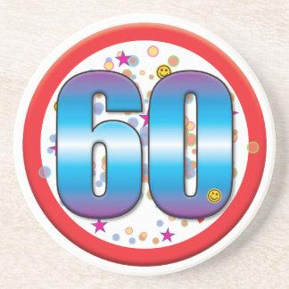 60th Birthday v2 Beverage Coaster