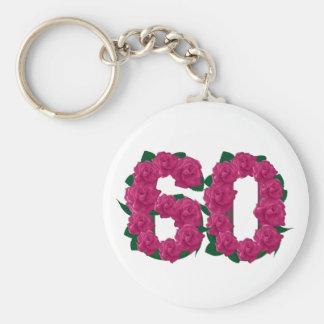 60th birthday wedding anniversary 60 key chain