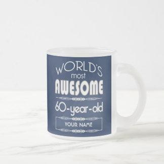 60th Birthday Worlds Best Fabulous Dark Blue Coffee Mug