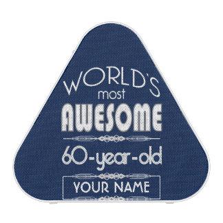 60th Birthday Worlds Best Fabulous Dark Blue Speaker