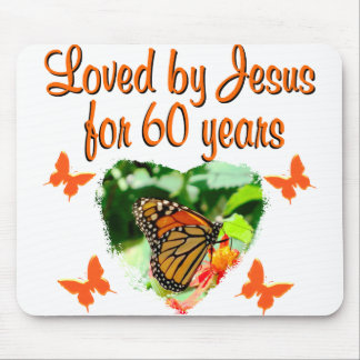 60TH BUTTERFLY BIRTHDAY DESIGN MOUSE PAD