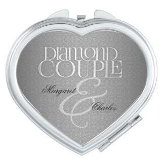 60th Diamond WeddinAnniversary | Custom Compact Vanity Mirrors