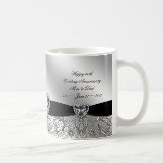 60th Diamond Wedding Anniversary Coffee Mug